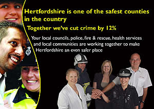 Crime falling in Hertfordshire