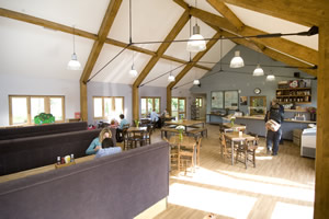 Inside the Cafe in the Park at Rickmansworth Aquadrome