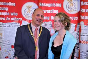 Cllr Laval with finalist Kirsty Holden
