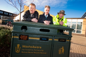 New on-street recycling bins