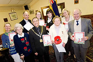 Councillor Mediratta with Royal British Legion volunteers