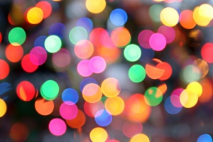 Abstract image of Christmas lights