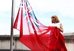 The Red Ensign flying at Three Rivers